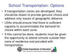 school transportation options50