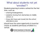 what about students not yet enrolled
