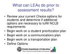 what can leas do prior to assessment results