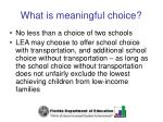 what is meaningful choice