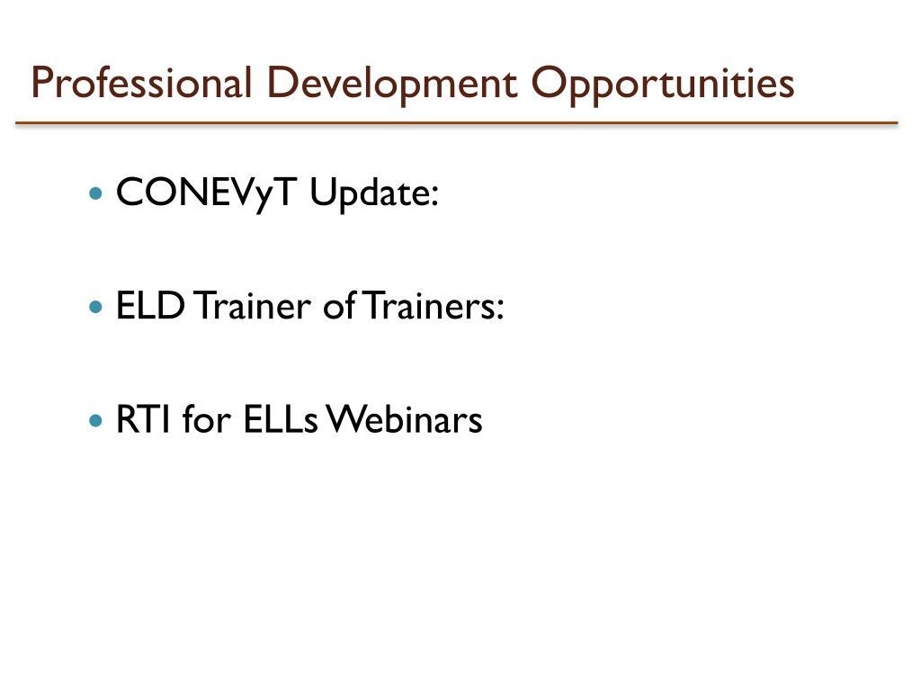 Professional Development Opportunities