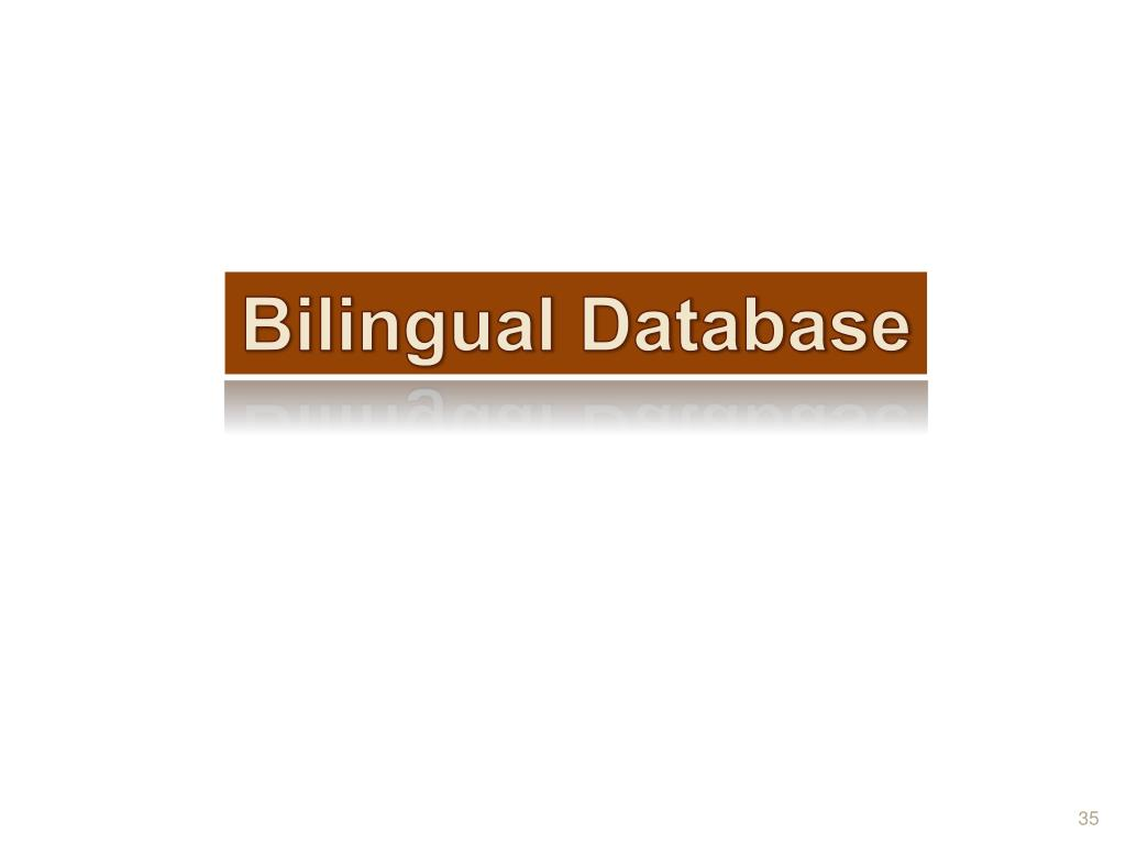 Bilingual Database