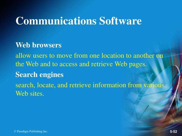 Communications Software