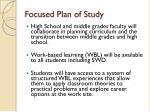 focused plan of study4