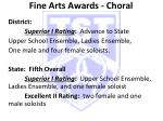 fine arts awards choral