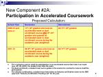 new component 2a participation in accelerated coursework