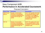 new component 2b performance in accelerated coursework