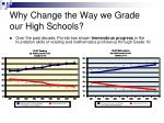 why change the way we grade our high schools