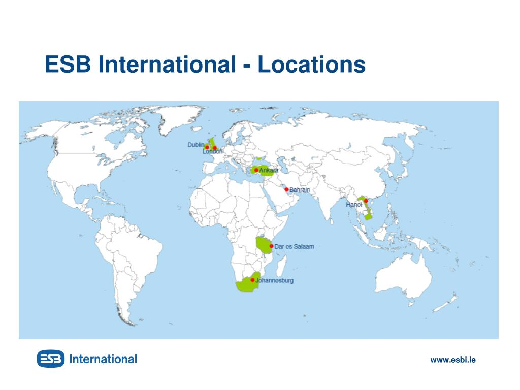 ESB International - Locations