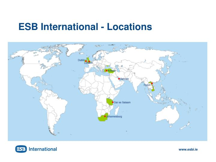 Esb international locations