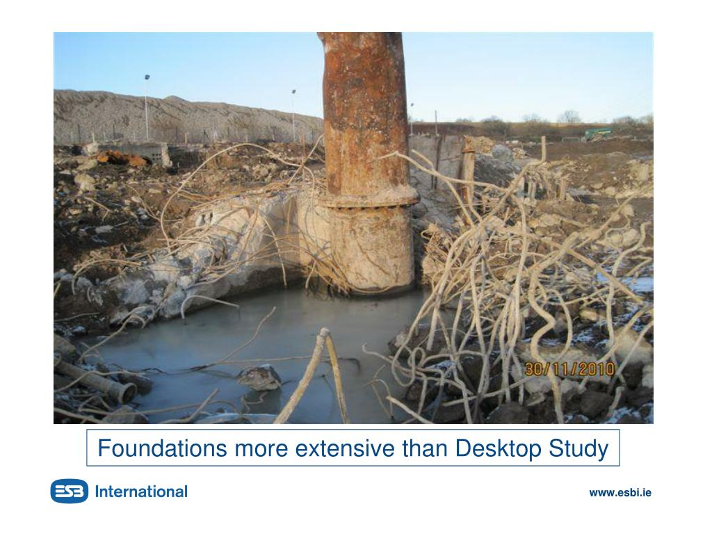 Foundations more extensive than Desktop Study
