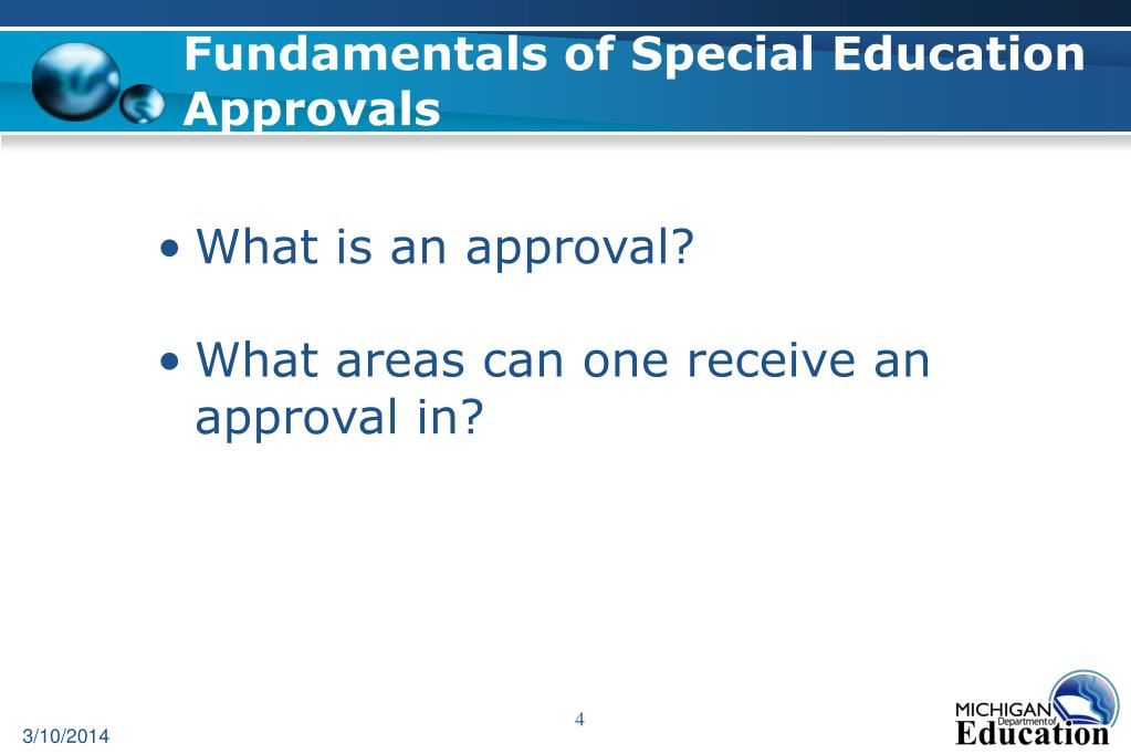 Fundamentals of Special Education Approvals