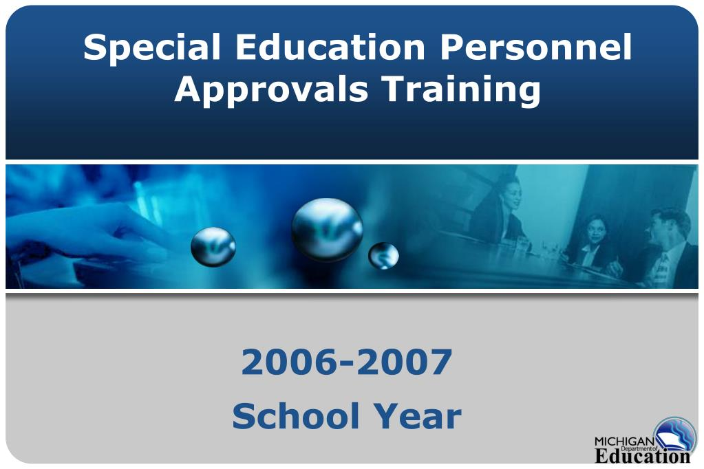 special education personnel approvals training l.