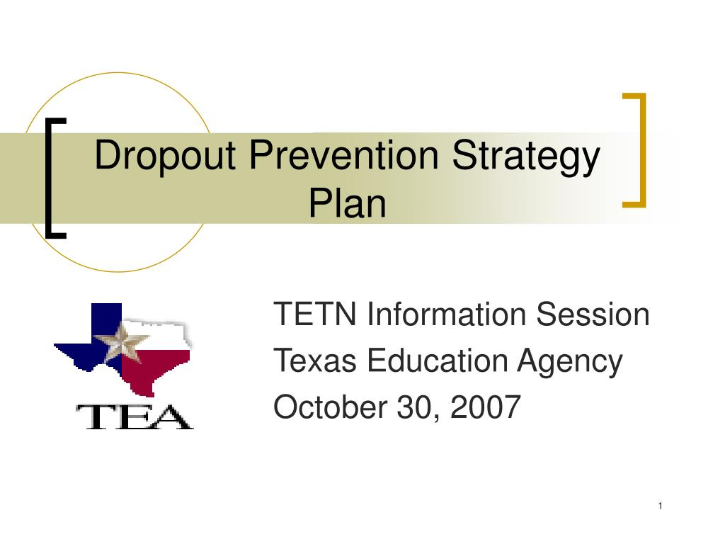 dropout prevention strategy plan l.
