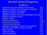 alcohol related diagnoses aafs 1