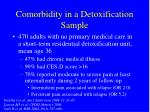 comorbidity in a detoxification sample