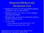 integrated medical and alcoholism care
