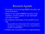 research agenda