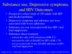 substance use depressive symptoms and hiv outcomes