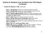 criteria for students to be included in the vr10 report continued46
