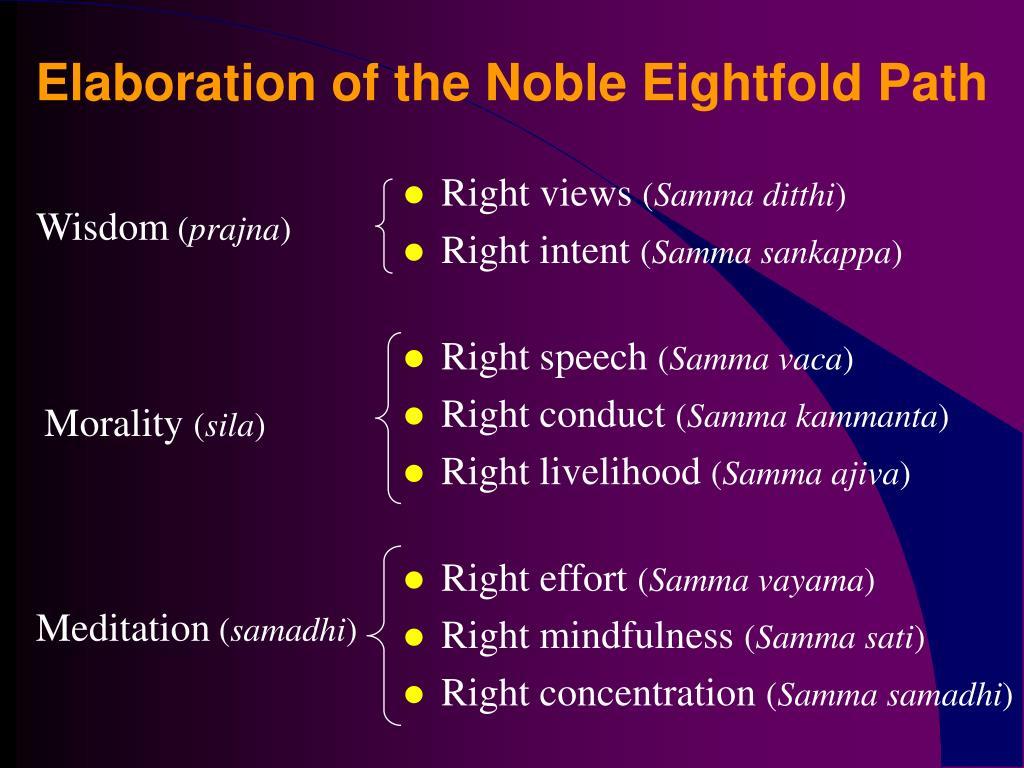 noble eightfold path essay Worksheet: buddhism and basic buddhist teachings 1 explain the basic the noble eightfold path are haven't found the essay you want.