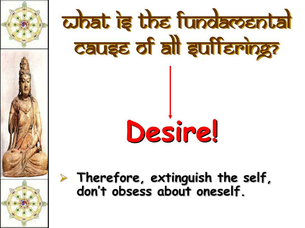 What is the fundamental cause of all suffering?