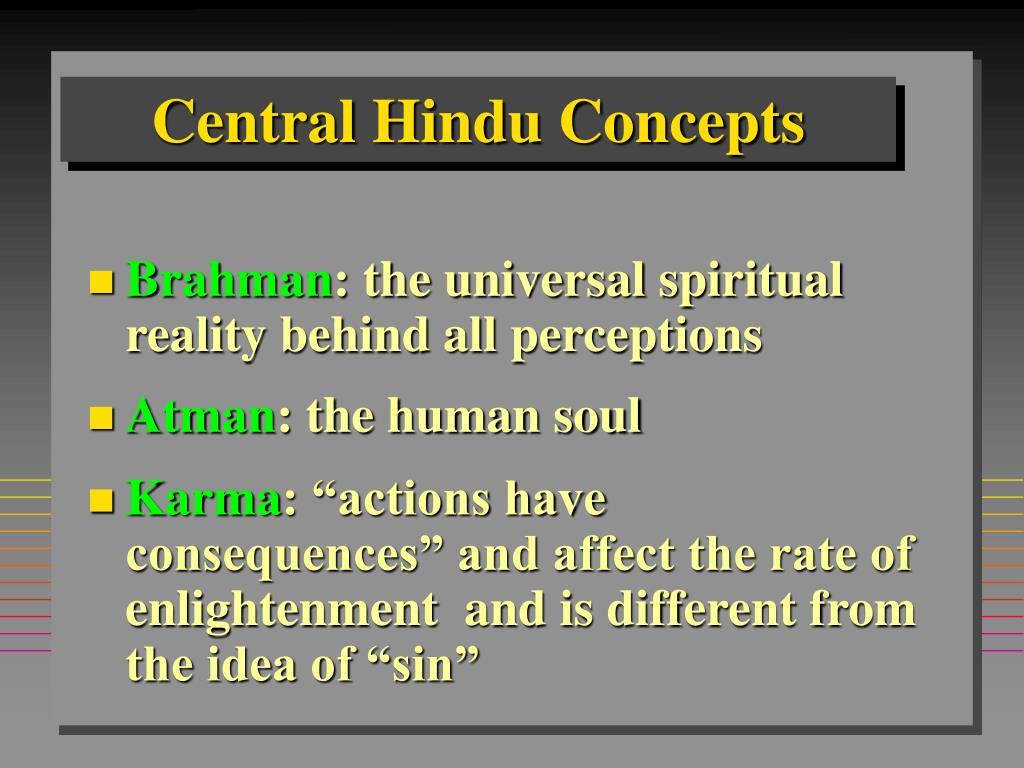 Central Hindu Concepts