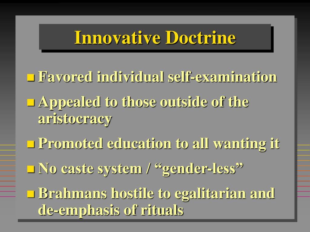 Innovative Doctrine