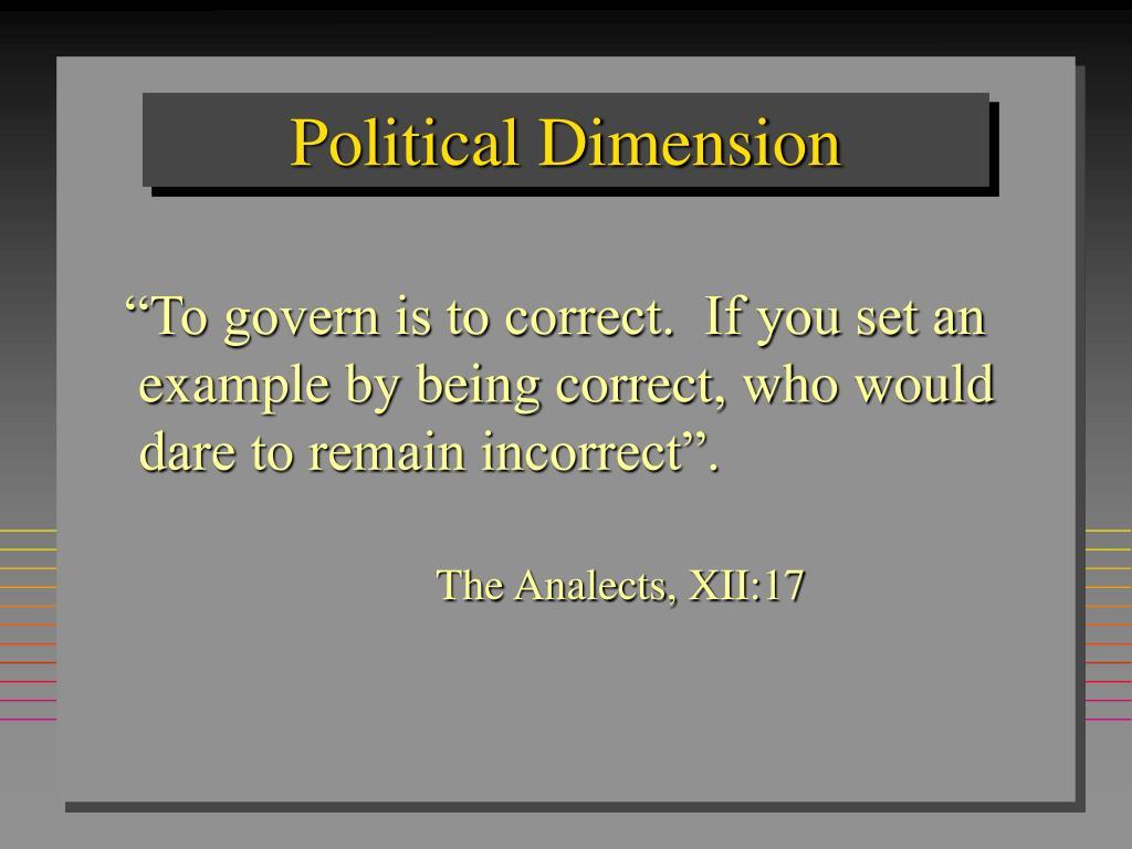Political Dimension