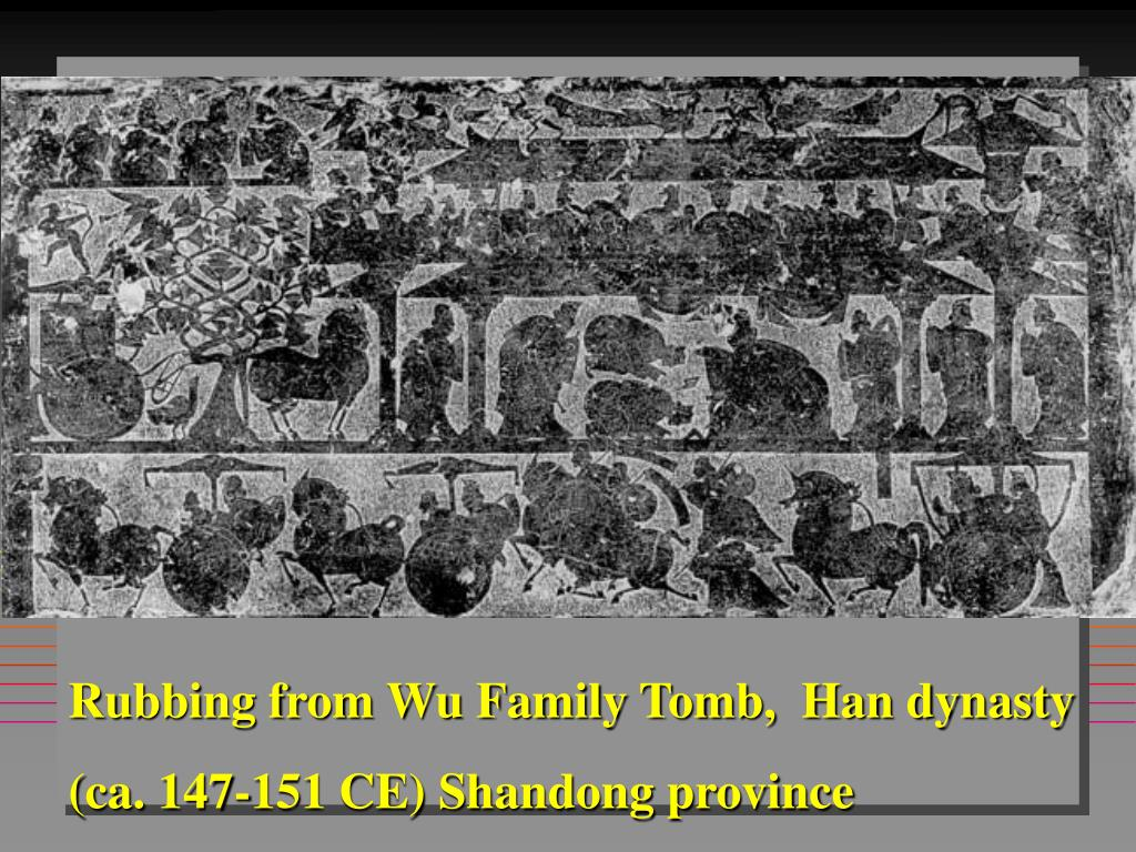 Rubbing from Wu Family Tomb,  Han dynasty