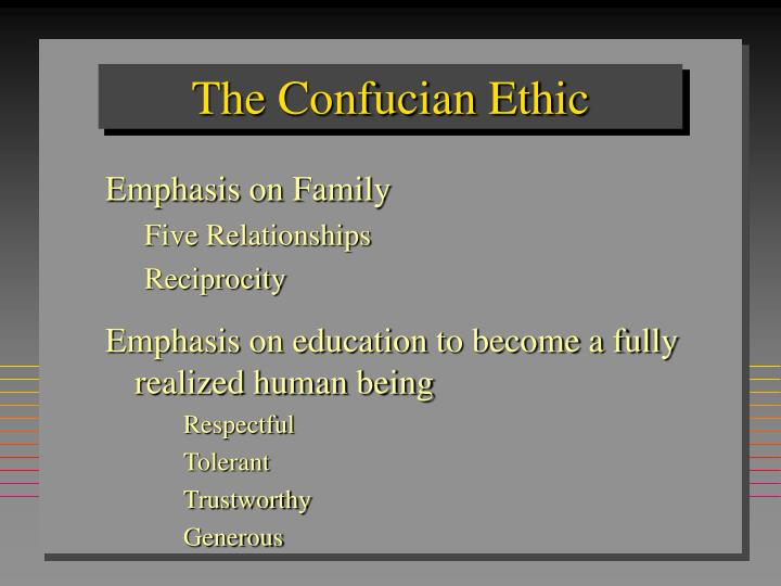 The confucian ethic
