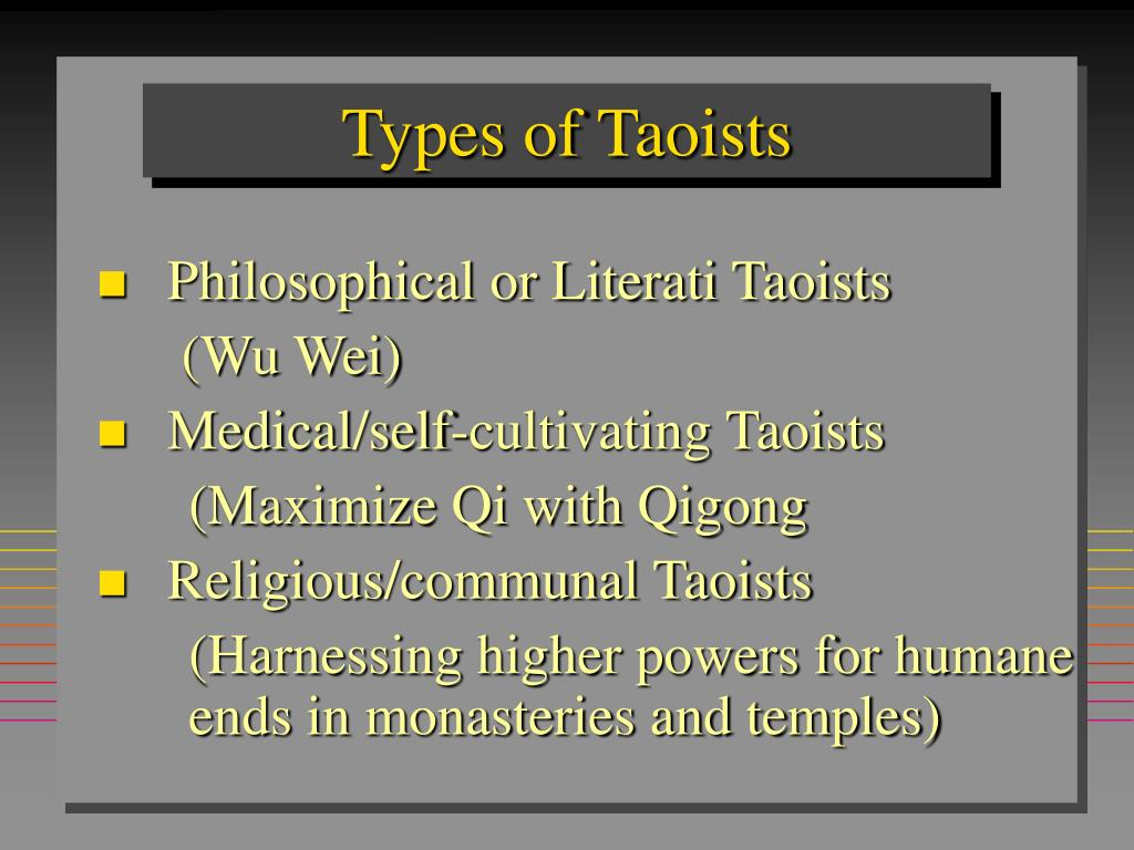 Types of Taoists