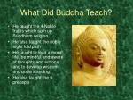 what did buddha teach