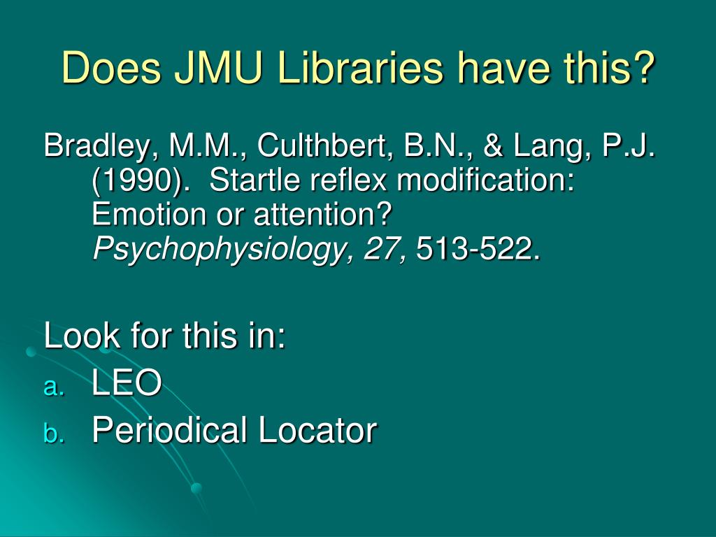 Does JMU Libraries have this?