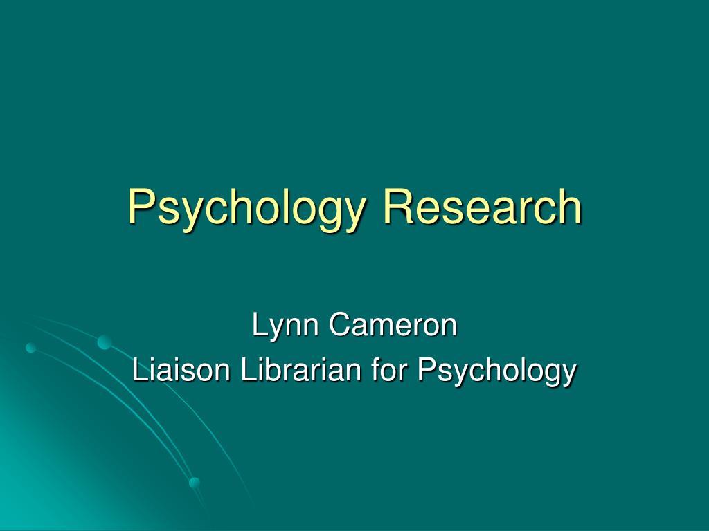 Psychology Research