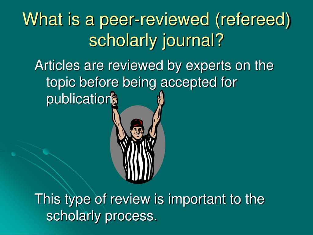 Articles are reviewed by experts on the topic before being accepted for publication.