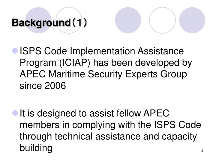 thesis on the implementation of the isps code The isps code was implemented in 2004 as a result of the september 11 2001 terrorist attack in the usa, so the imo decided to implement a code known as the isps code the main aim of the code is to ensure the safety of ships, port environment etc.