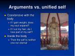 arguments vs unified self18