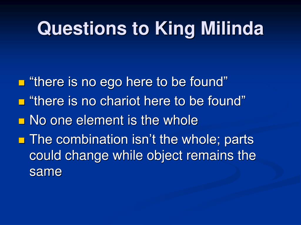 Questions to King Milinda