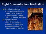 right concentration meditation