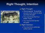 right thought intention