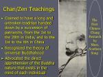 chan zen teachings