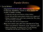 popular deities