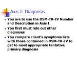 axis i diagnosis