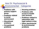axis iv psychosocial environmental categories