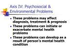 axis iv psychosocial environmental problems