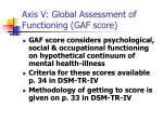 axis v global assessment of functioning gaf score