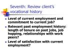 seventh review client s vocational history