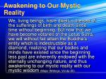 awakening to our mystic reality