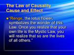 the law of causality cause and effect